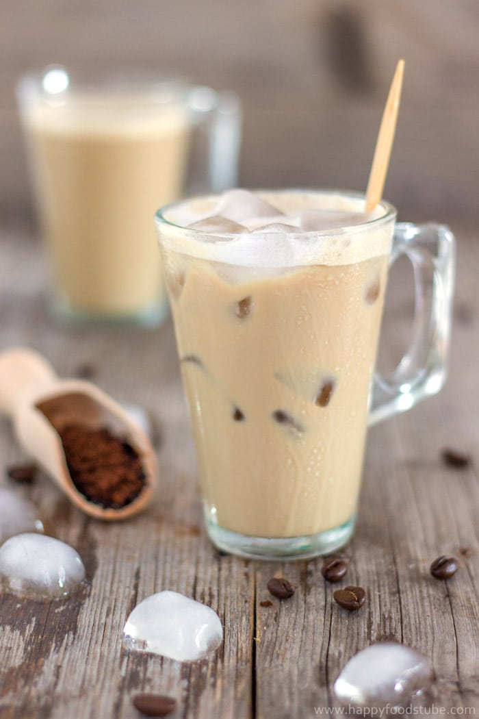 1 Minute Instant Iced Coffee - 16 Most Popular Recipes 2016   happyfoodstube.com