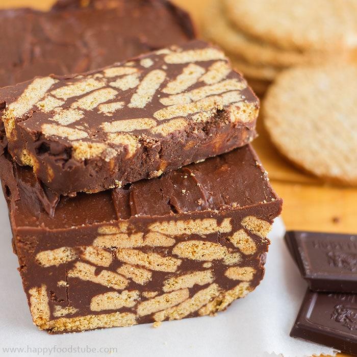 Chocolate Biscuit Cake - 16 Most Popular Recipes 2016   happyfoodstube.com