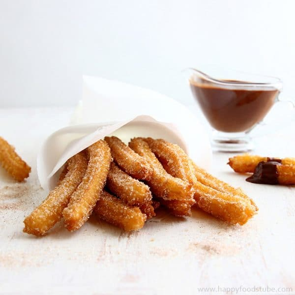 Churros - 16 Most Popular Recipes 2016 | happyfoodstube.com