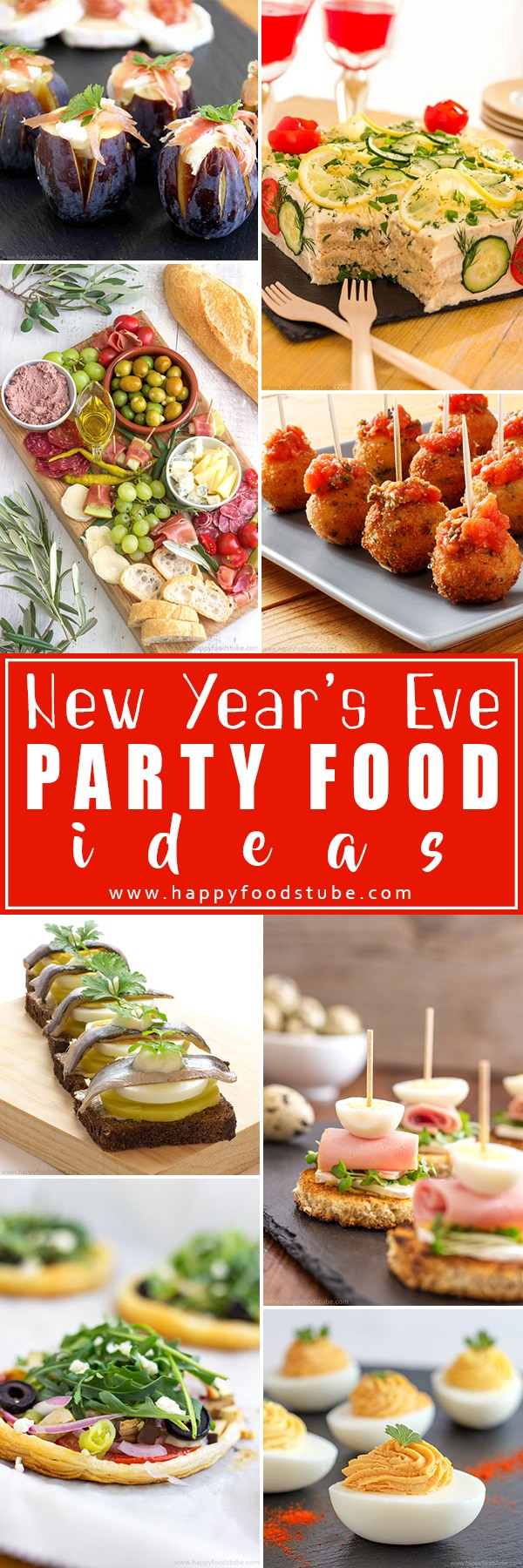 Looking for New Years Eve party food ideas? Look no more! Ring in the New Year with these simple party recipes. We love them and hope you will too. #appetizers #newyearseve #partyfood #fingerfood #bitesizefood #recipes #partyrecipes #canapes
