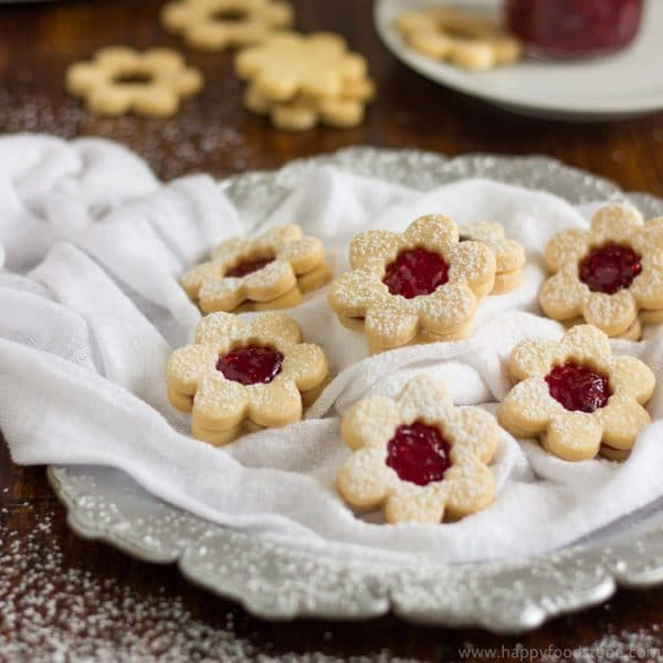 Homemade Linzer Cookies with Raspberry Jam