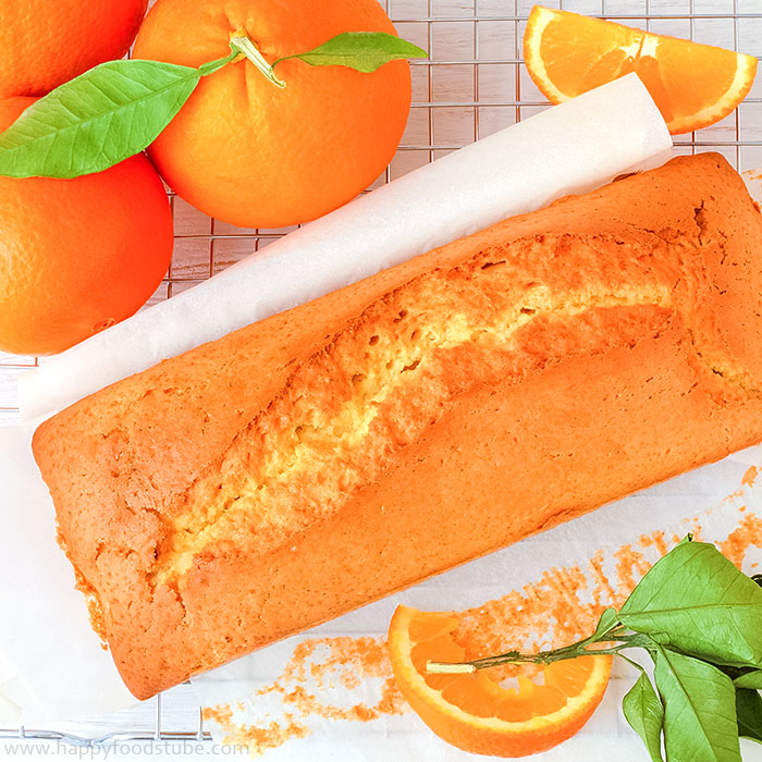 Orange Loaf Cake - 16 Most Popular Recipes 2016 | happyfoodstube.com