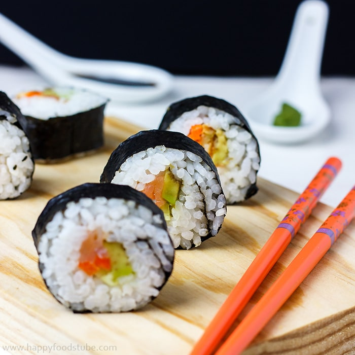 Homemade Sushi - 16 Most Popular Recipes 2016 | happyfoodstube.com