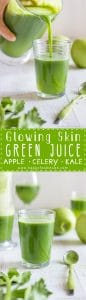 Glowing Skin Green Juice Healthy Recipe