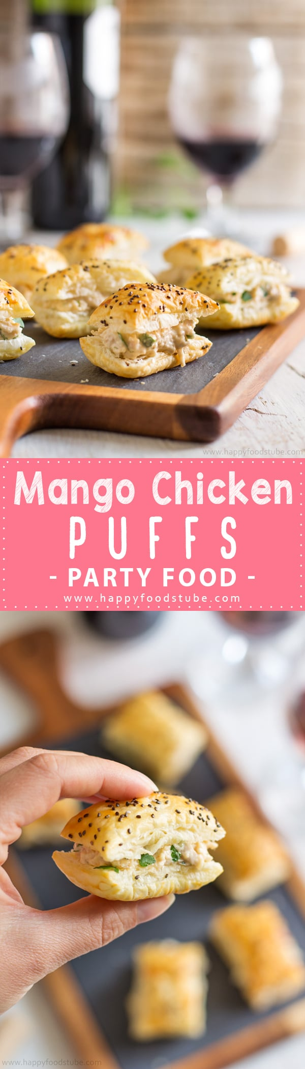 Mango chicken puffs appetizers video easy party food recipe mango chicken puffs are easy puff pastry appetizers ready in under 30 minutes perfect bite forumfinder Gallery