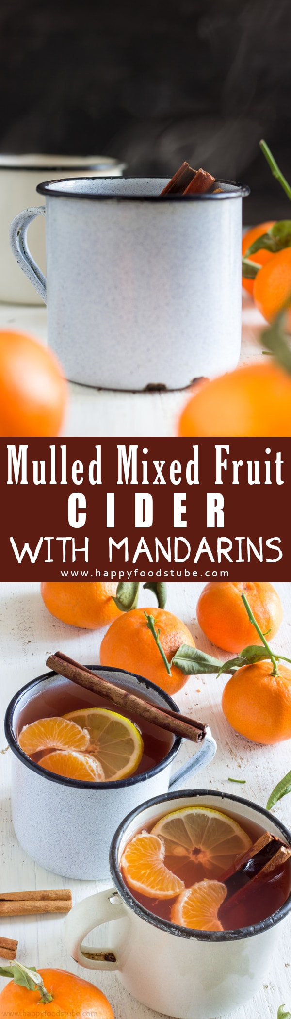 Indulge yourself in a cup of Mulled Mixed Fruit Cider with Mandarins. This warm drink made with mixed fruit cider and rum is perfect for cold days. Kopparberg cider