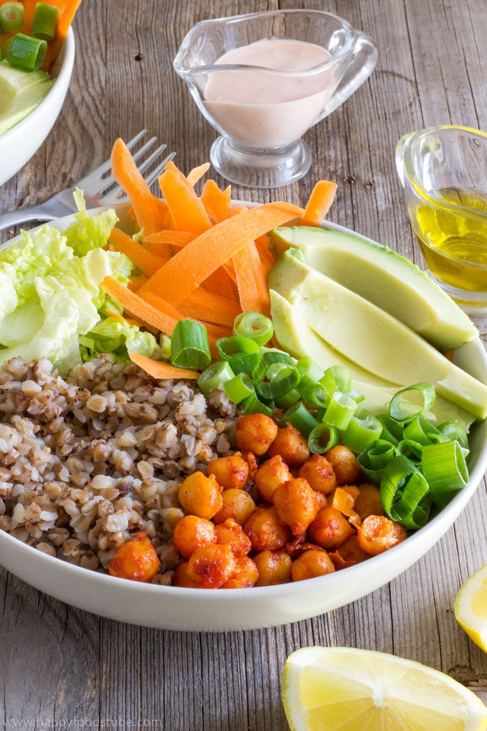Nourishing Buddha Bowl Recipe | happyfoodstube.com