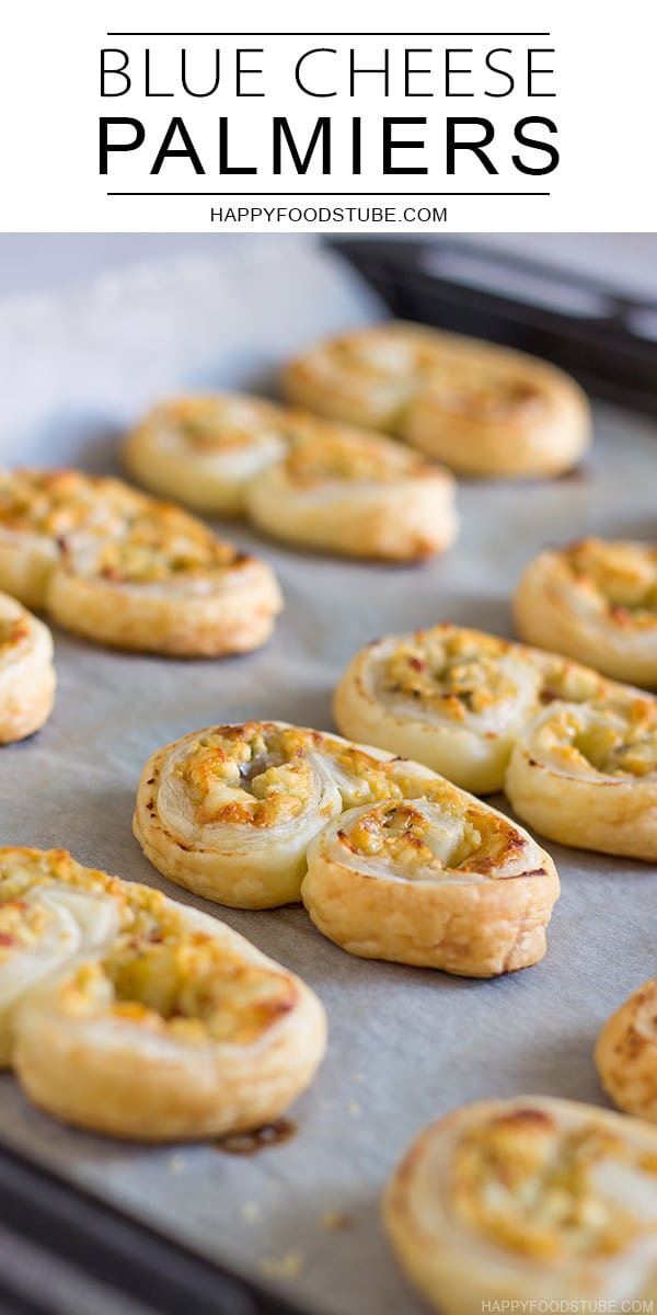 Blue Cheese Palmiers Puff Pastry Appetizers