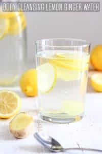 Body Cleansing Lemon Ginger Water