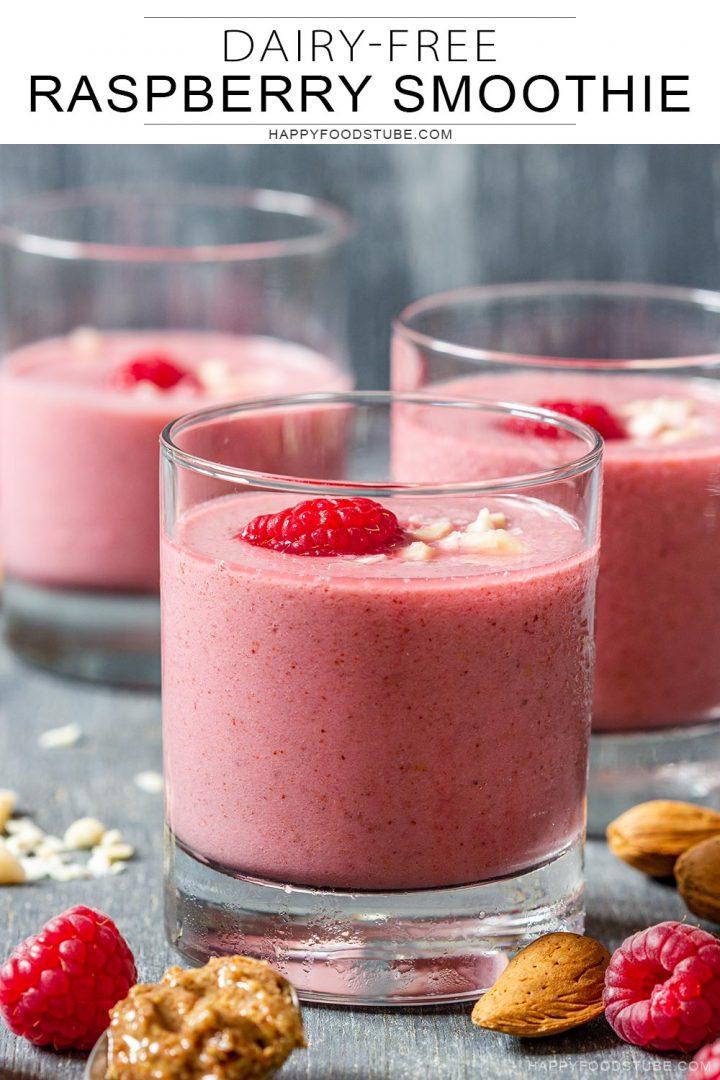 Dairy free raspberry smoothie recipe