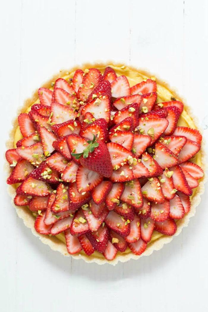 No-Bake-Strawberry-Pistachio-Cardamom-Tart