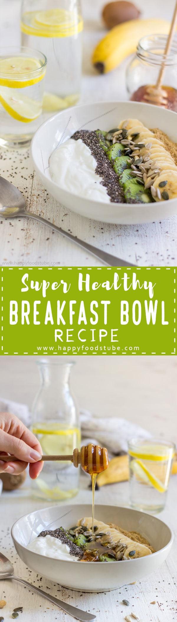 Super Healthy Breakfast Bowl - Start off your day with this nutritious meal ready in less than 5-minutes. Easy breakfast with yogurt, fruits and seeds