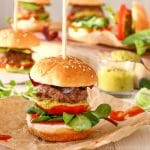 Sweet Chili Pesto Burger Sliders
