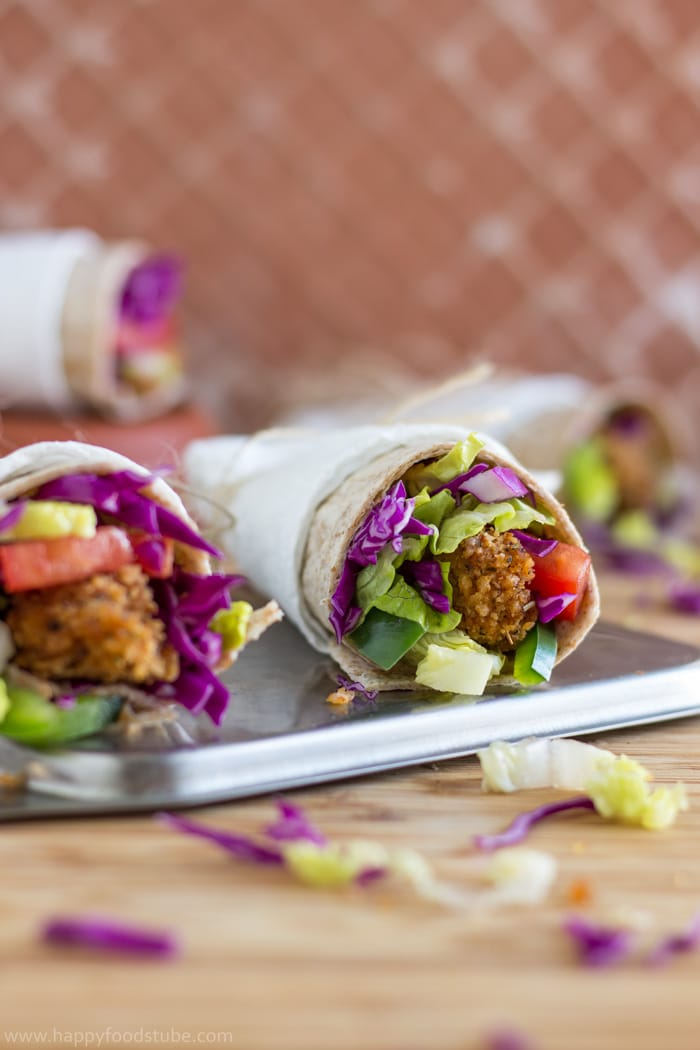 Whole-Wheat-Crispy-Popcorn-Chicken-Wrap-Recipe