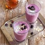 Blueberry Coconut Milk Smoothie with Oats Image