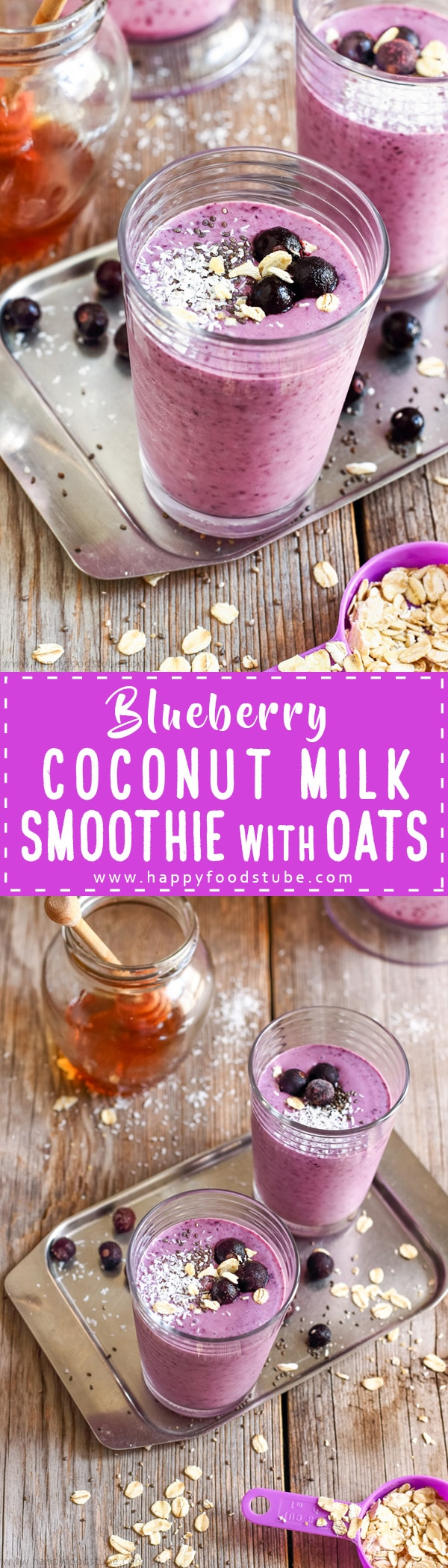 Homemade Blueberry Coconut Milk Smoothie is delicious breakfast drink and packed with antioxidants, protein, fiber, minerals and vitamins. Ready to go in just 5 minutes