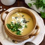 Creamy Chickpea Soup with Coconut Milk & Feta