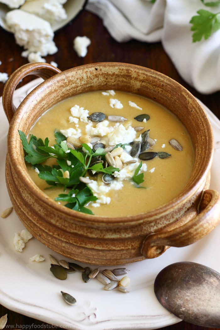Creamy Chickpea Soup with Coconut and Feta Pictures