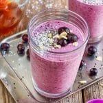 Easy Blueberry Coconut Milk Smoothie Recipe