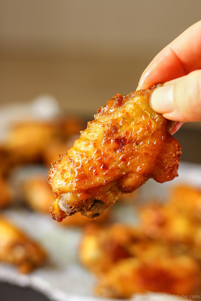 Baked Curry Chicken Wings with Mango Chutney Image