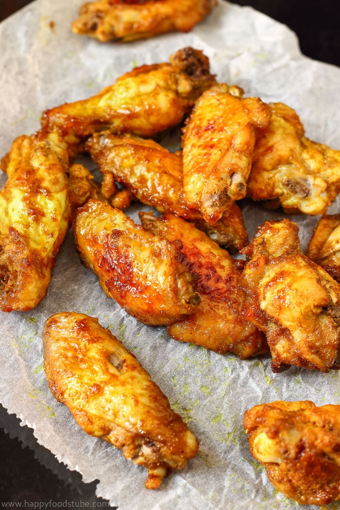 Baked Curry Chicken Wings with Mango Chutney Pic