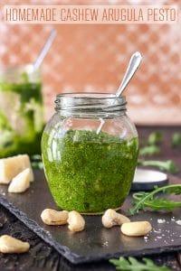 Homemade Cashew Arugula Pesto Recipe