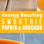 Energy Boosting Smoothie with Papaya & Avocado Recipe