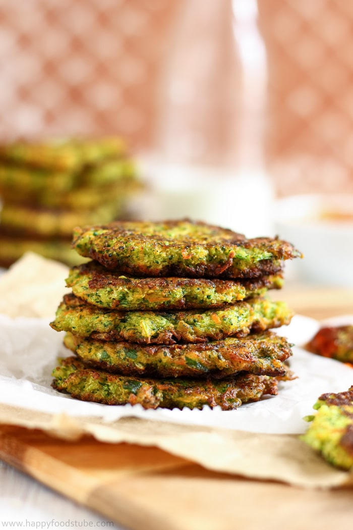Fluffy Carrot Broccoli Fritters Image