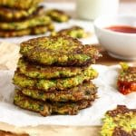 Fluffy Carrot Broccoli Fritters Photo