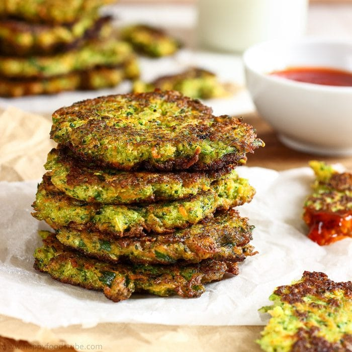 Fluffy Carrot Broccoli Fritters