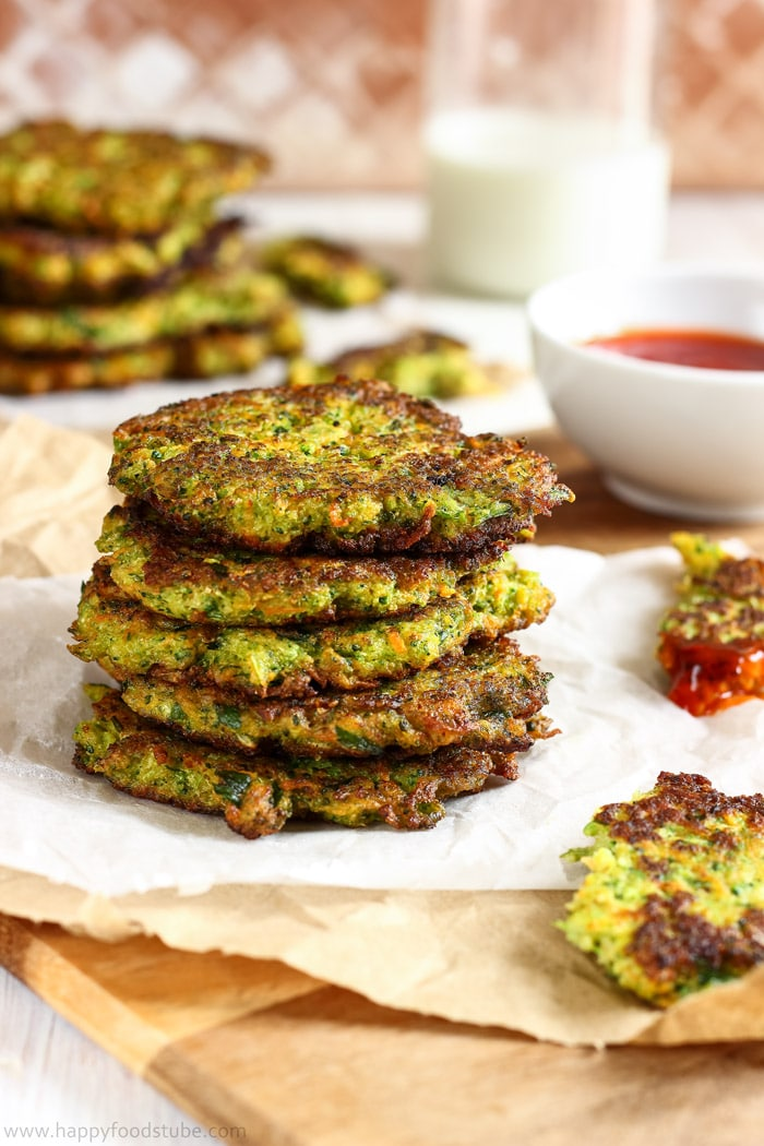 Fluffy Carrot Broccoli Fritters Picture