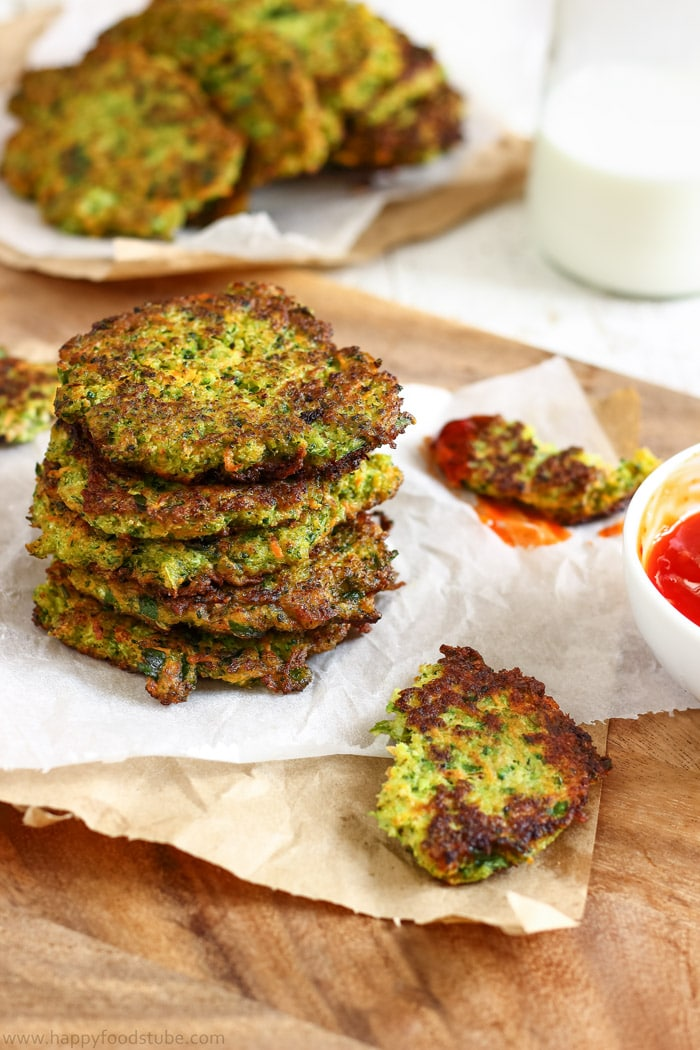 Fluffy Carrot Broccoli Fritters Pictures