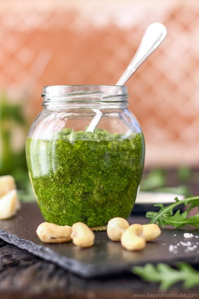 Homemade Cashew Arugula Pesto Image