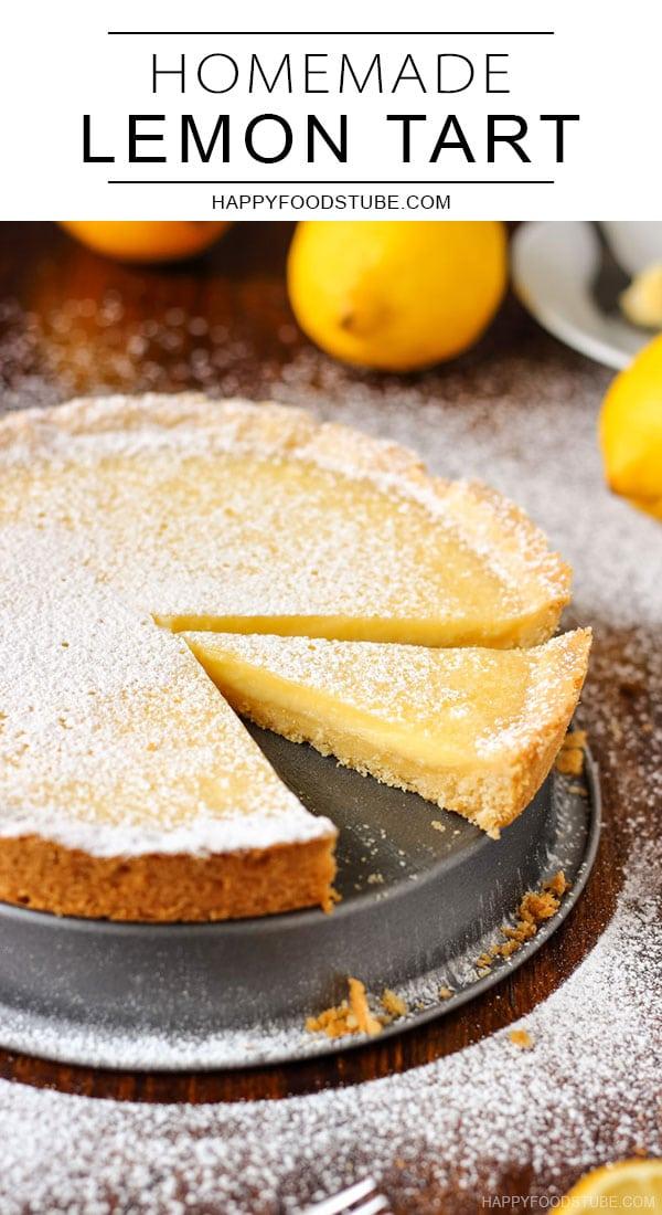 Homemade lemon tart pin