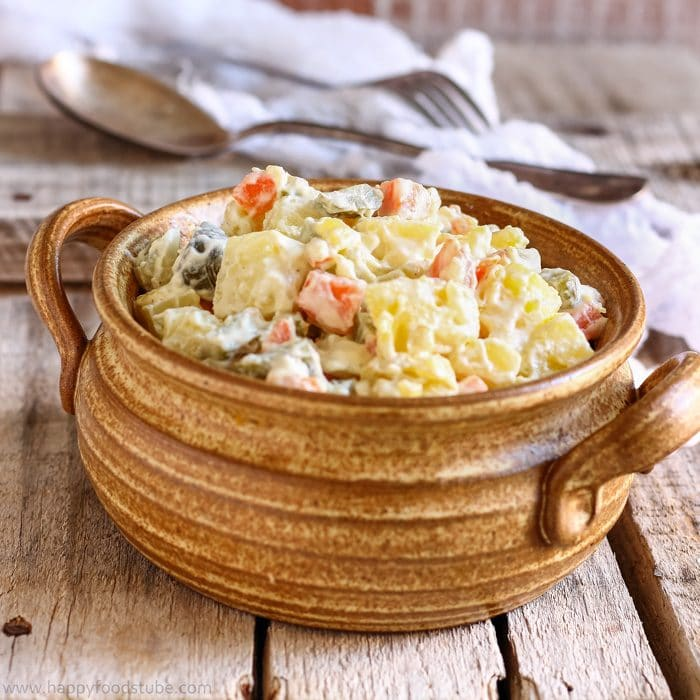 Lighter Dill Pickle Potato Salad Image