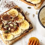 Ricotta Chocolate Banana Toast with Seeds Photo