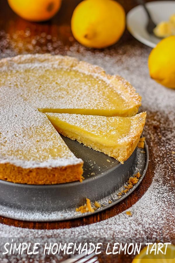 Simple Homemade Lemon Tart Recipe