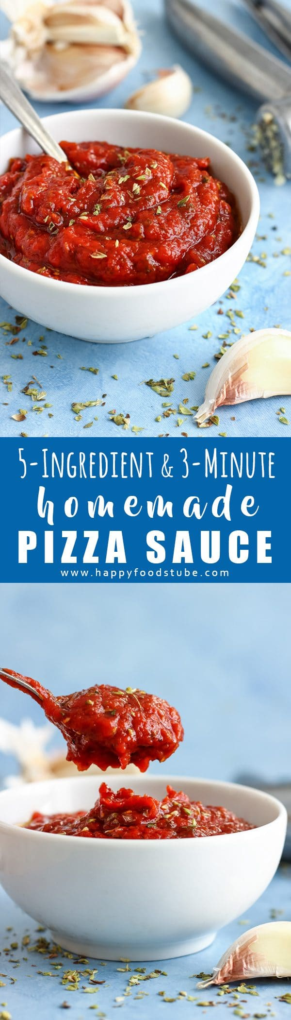 5-Ingredient & 3-Minute Homemade Pizza Sauce Recipe