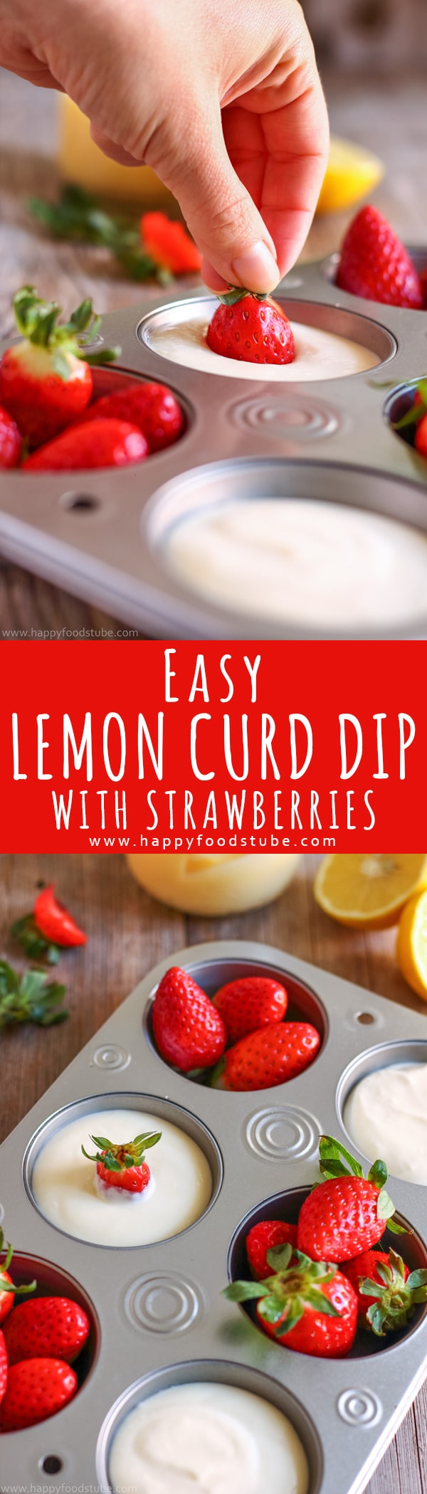 This easy lemon curd dip recipe is citrus flavored, only 3-ingredients and ready in less than 5-minutes. Easy to make fruit dip with sour cream. Perfect for picnics, parties and entertaining at home