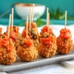 Fried Mozzarella Balls with Homemade Tomato Dip {Video}