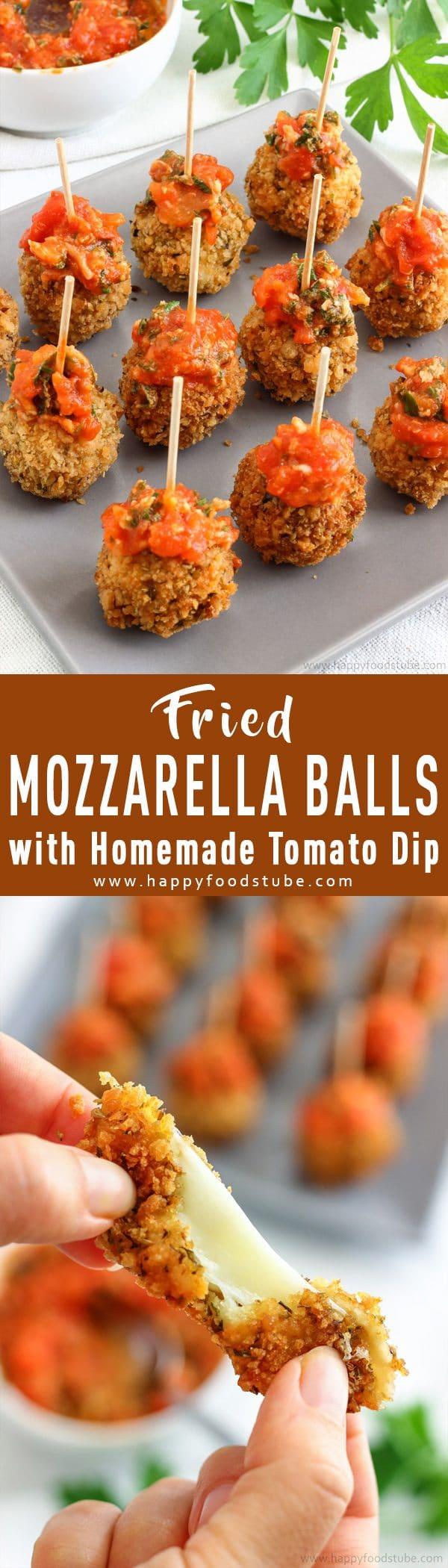 Fried Mozzarella Balls with Homemade Tomato Dip Recipe Picture