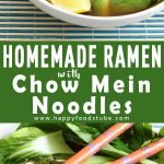 Homemade Ramen with Chow Mein Noodles Recipe Picture