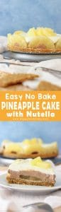 No Bake Pineapple Cake with Nutella Recipe Image