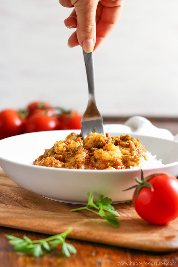 Tomato Salsa Shrimp and Rice Images