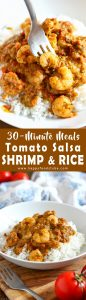 Tomato Salsa Shrimp and Rice Recipe 30 minute meals