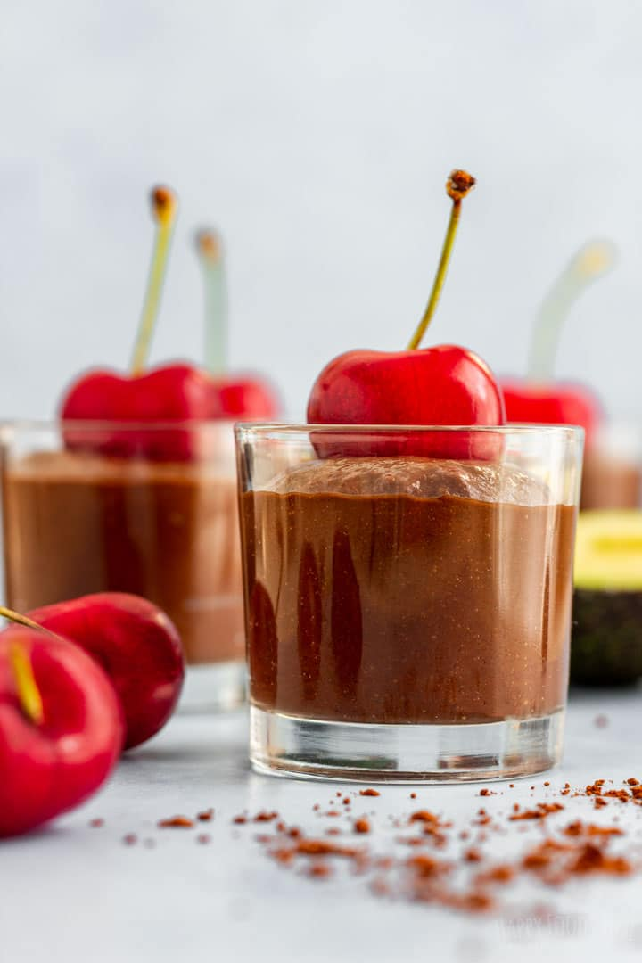 Chocolate mousse with avocado