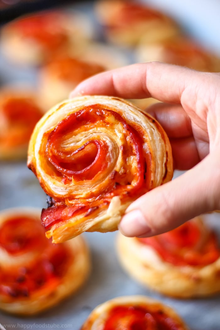 Bacon Pinwheels with Cheddar Photo
