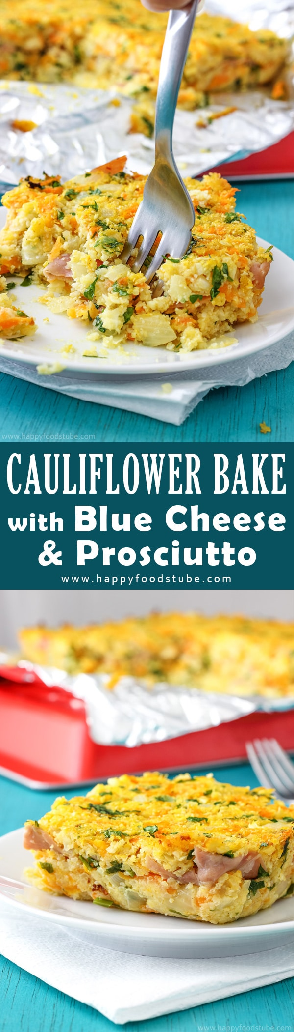 This cauliflower bake with blue cheese and prosciutto is a great appetizer as well as side. Turn ordinary vegetables into something extraordinary. Easy family meal recipe