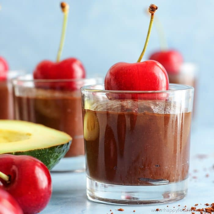 Cherry Avocado Chocolate Mousse {Video}