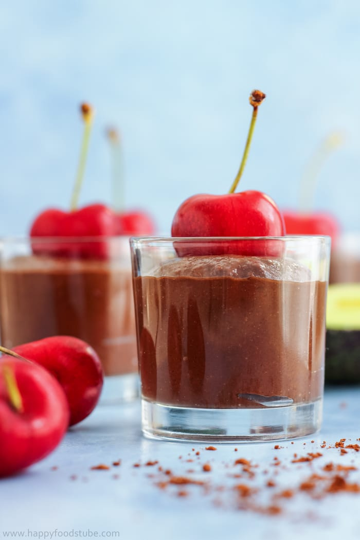 Cherry Avocado Chocolate Mousse Pic